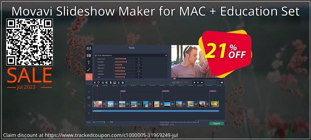 Get 20% OFF Movavi Slideshow Maker for MAC + Education Set offering sales