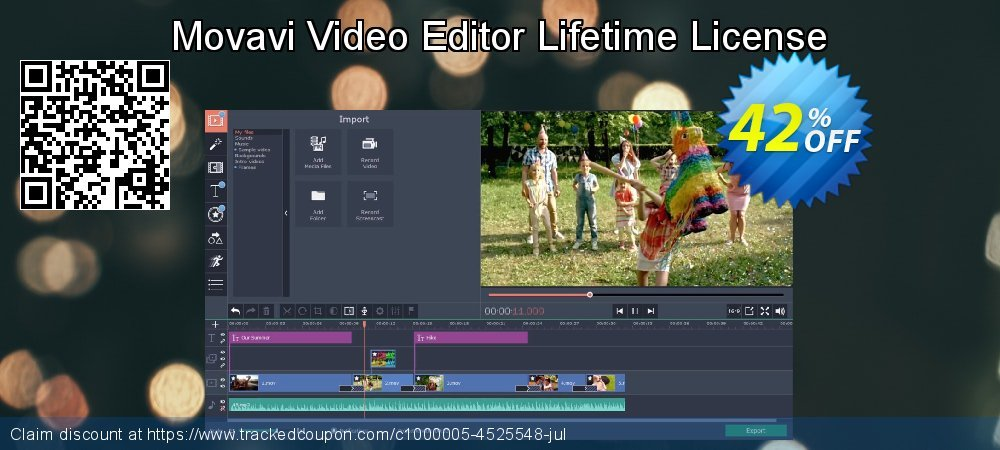 Movavi Video Editor coupon on Back to School offer deals
