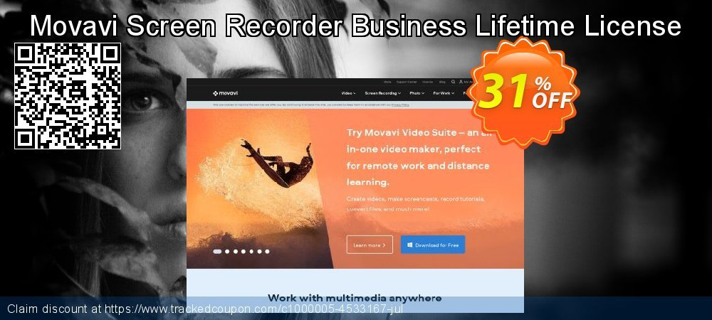 Movavi Screen Recorder Studio - Business coupon on Black Friday promotions