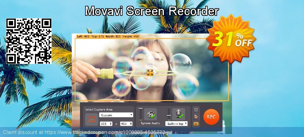 Movavi Screen Recorder Studio coupon on University Student offer deals