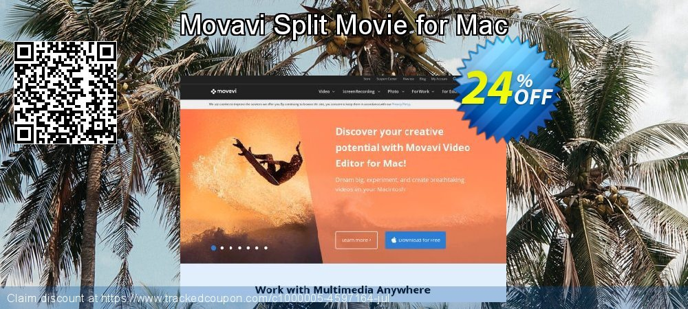 Movavi Split Movie for Mac coupon on Back to School promotion discount