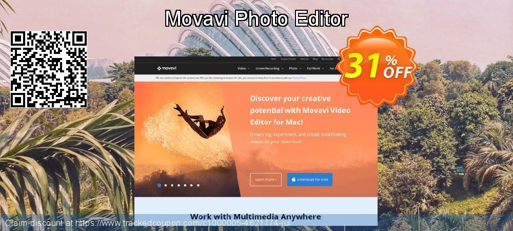 Get 30% OFF Movavi Photo Editor offering discount