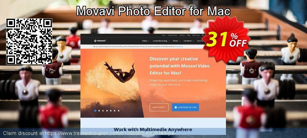Movavi Photo Editor for Mac coupon on University Student deals offering sales