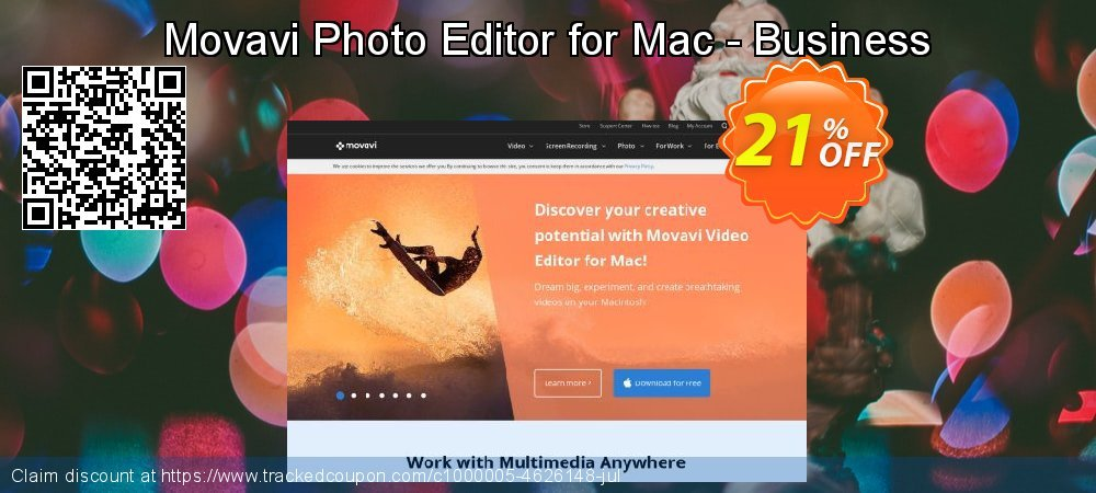Movavi Photo Editor for Mac - Business License  coupon on Back to School promotion promotions