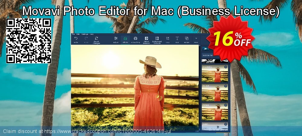 Movavi Photo Editor for Mac - Business License  coupon on New Year sales