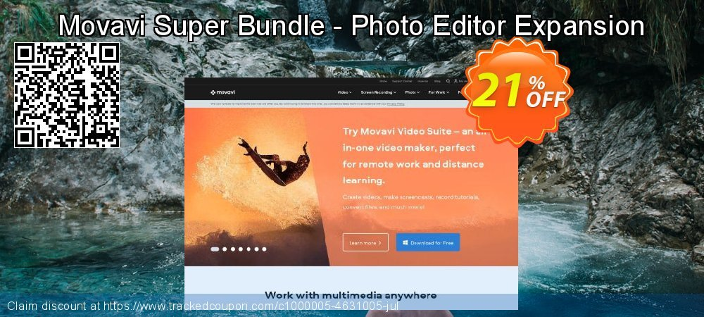 Movavi Super Bundle - Photo Editor Expansion coupon on Exclusive Teacher discount offering sales