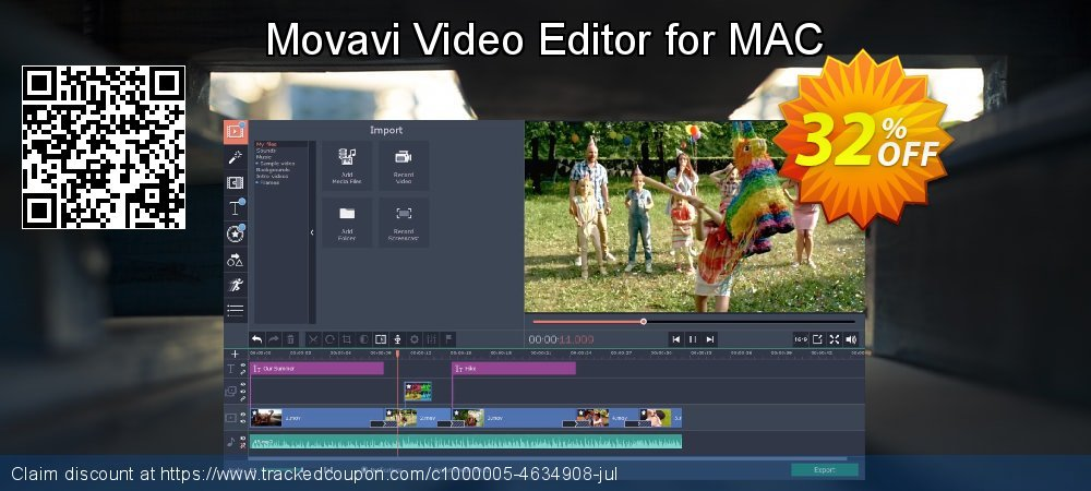 Movavi Video Editor for MAC coupon on New Year discount
