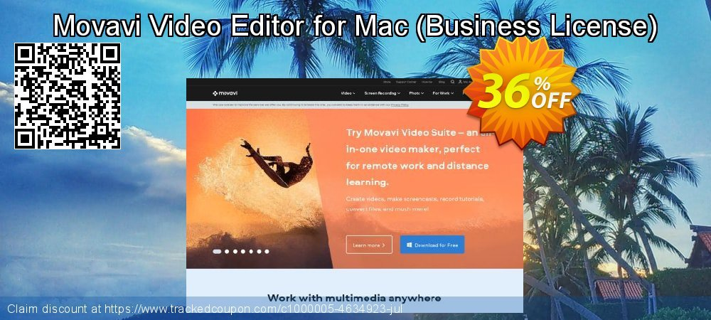 Movavi Video Editor for Mac - Business License  coupon on Lunar New Year sales