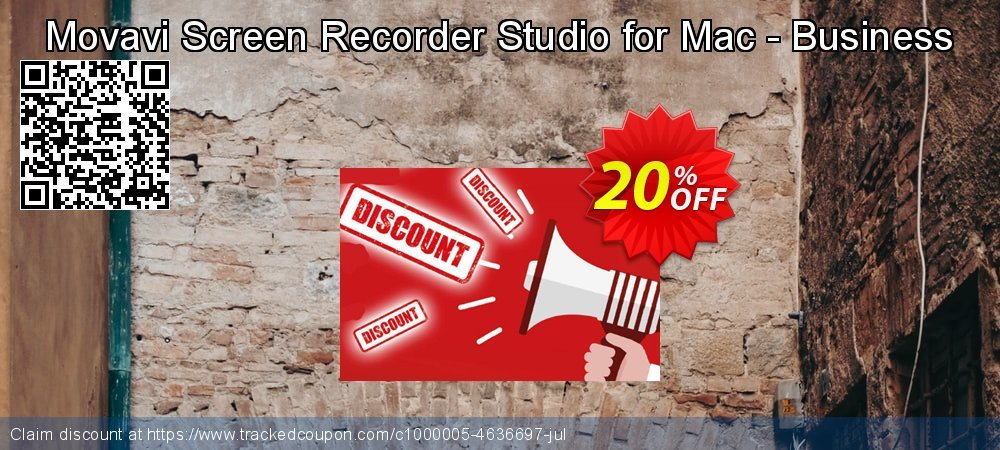 Movavi Screen Recorder Studio for Mac - Business coupon on Exclusive Student deals sales