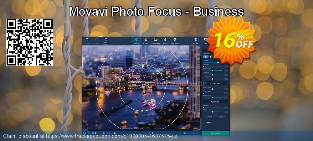 Movavi Photo Focus - Business coupon on Halloween offer