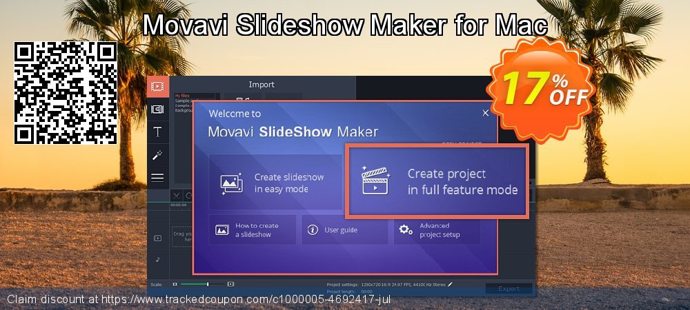 Movavi Slideshow Maker for Mac coupon on End of Year offering discount