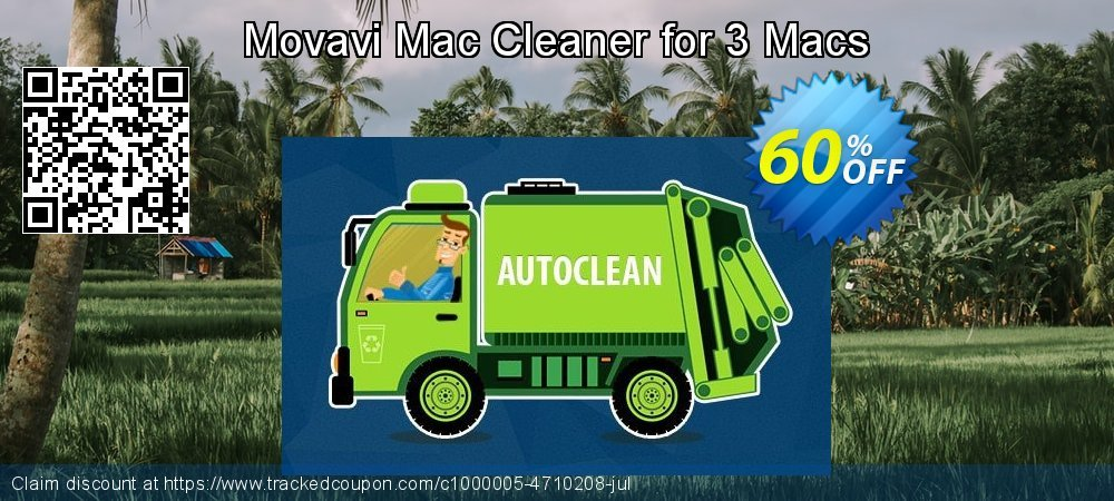 Movavi Mac Cleaner for 3 Macs coupon on Exclusive Teacher discount promotions