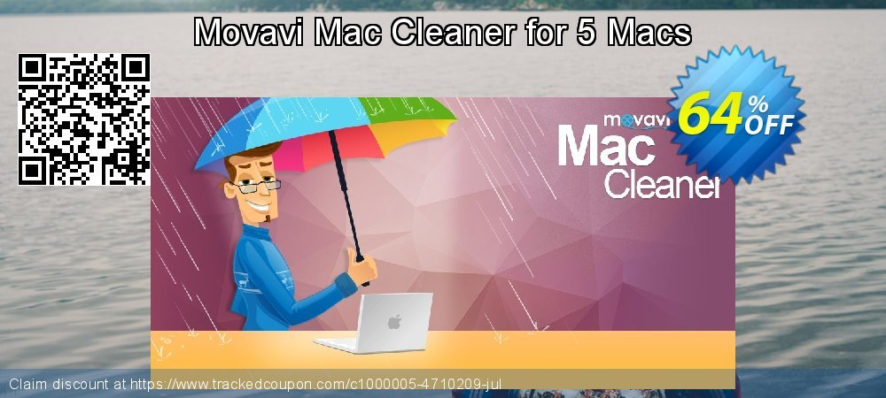 Movavi Mac Cleaner for 5 Macs coupon on April Fool's Day sales