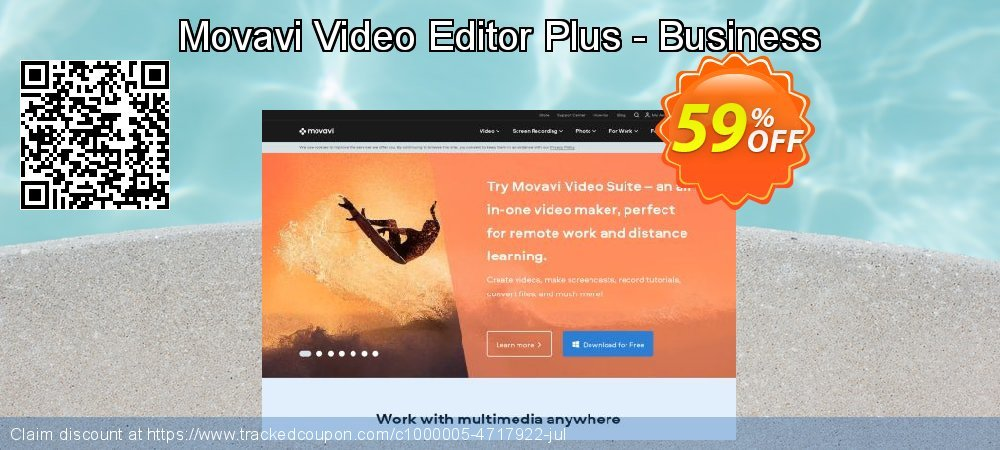 Movavi Video Editor Plus - Business coupon on Thanksgiving offer
