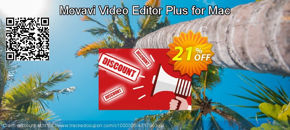 Movavi Video Editor Plus for Mac coupon on Teacher deals offering sales
