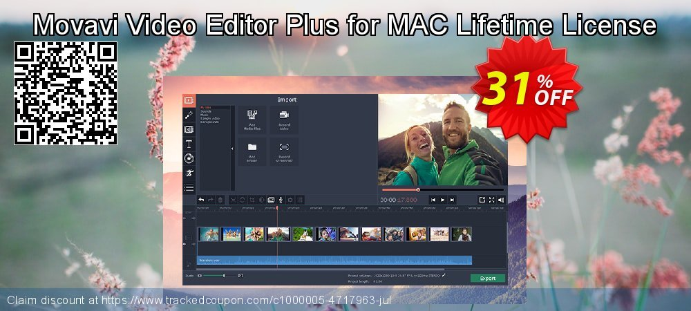 Movavi Video Editor Plus for Mac coupon on Lunar New Year super sale