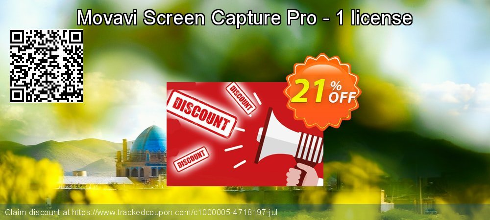 Movavi Screen Capture Pro - 1 license coupon on Exclusive Student discount offering sales