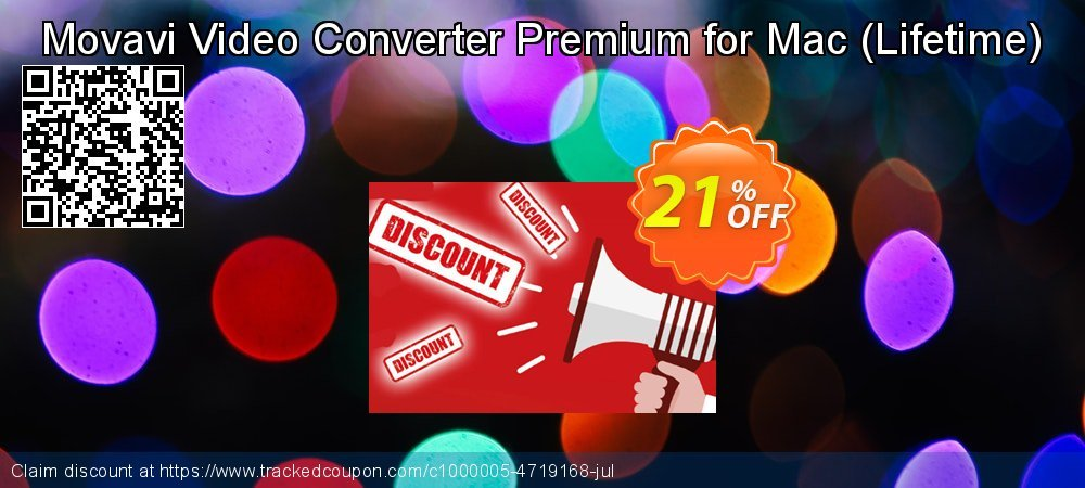 Movavi Video Converter Premium for Mac - Lifetime  coupon on University Student offer offering discount