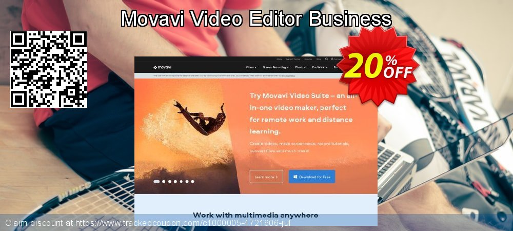 Movavi Video Editor Business coupon on Happy New Year offering discount