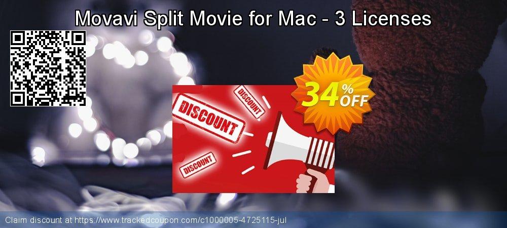 Movavi Split Movie for Mac - 3 Licenses coupon on Student deals offer