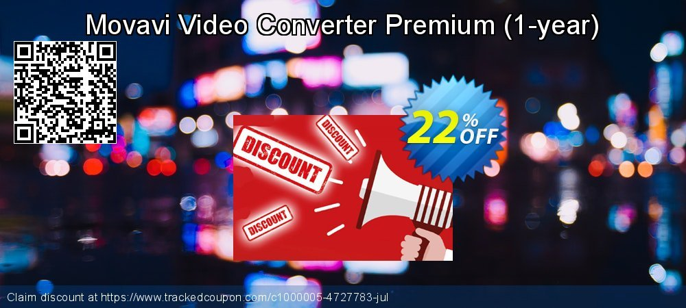 Movavi Video Converter Premium - 1-year  coupon on Exclusive Student deals super sale