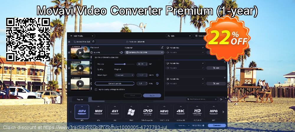 Movavi Video Converter Premium - 1-year  coupon on Lunar New Year discounts