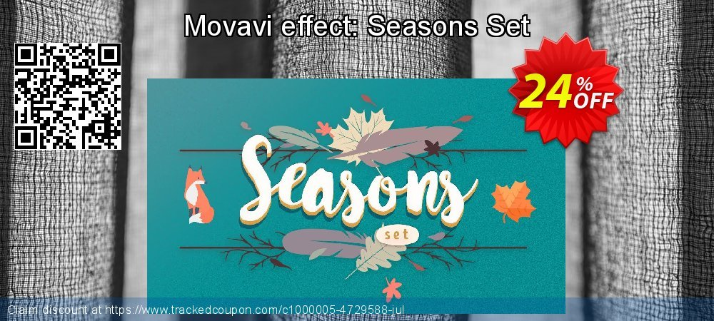 Movavi Seasons Set coupon on Exclusive Teacher discount offer