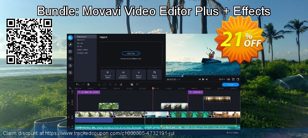 Bundle: Movavi Video Editor Plus + Effects coupon on Black Friday super sale