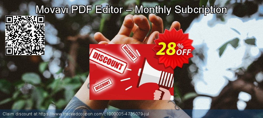 Movavi PDF Editor – Monthly Subcription coupon on Halloween offering discount