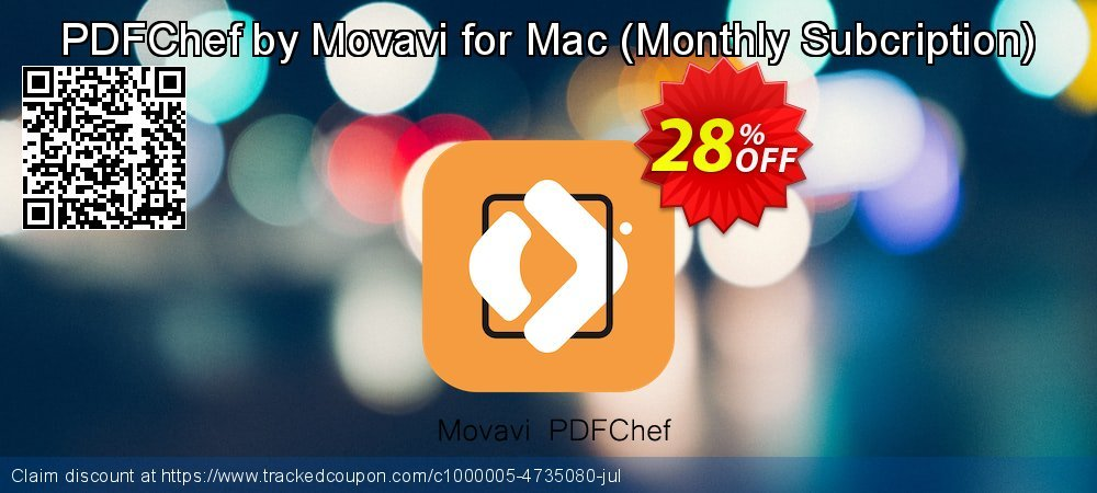 PDFChef by Movavi for Mac - Monthly Subcription  coupon on Thanksgiving super sale
