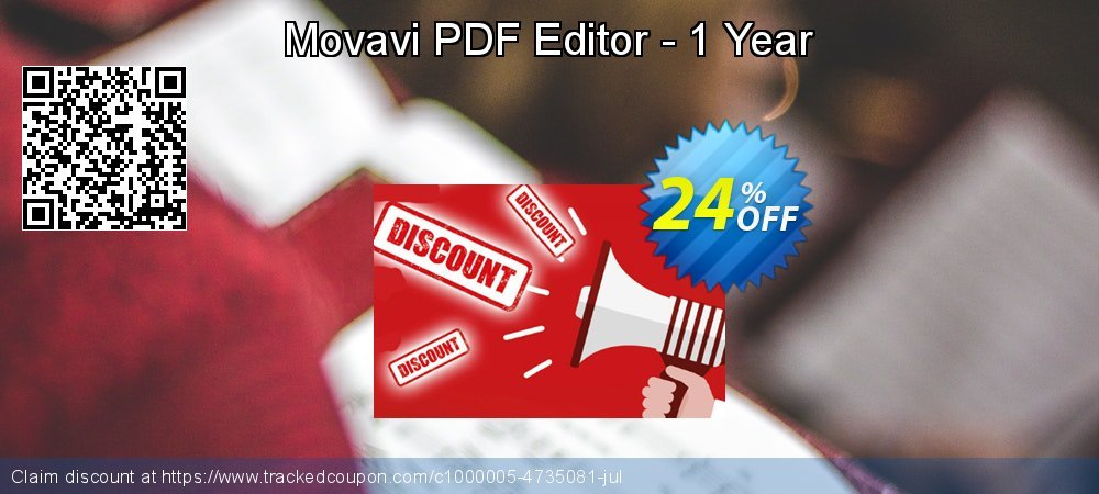 Movavi PDF Editor - 1 year  coupon on University Student deals offering sales