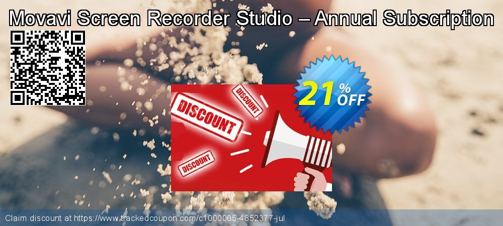Movavi Screen Recorder Studio - 1 year  coupon on Student deals offering discount