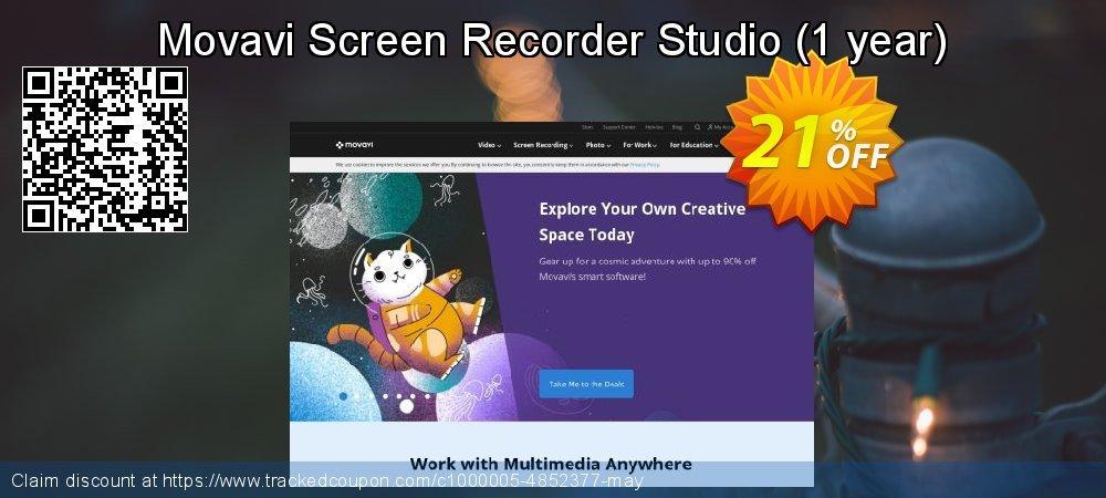 Movavi Screen Recorder Studio - 1 year  coupon on Black Friday super sale