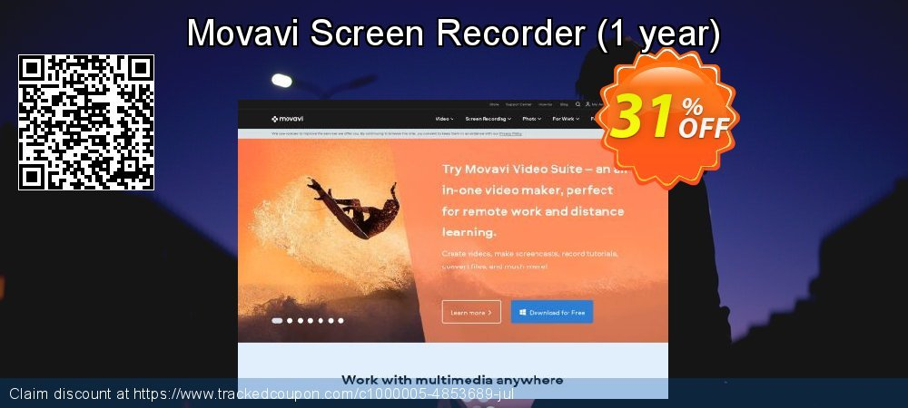 Movavi Screen Recorder - 1 year  coupon on University Student offer offer