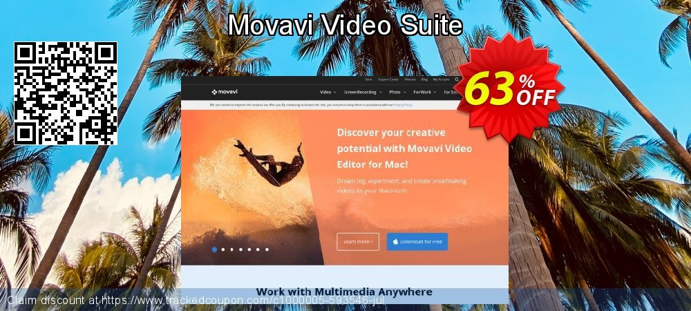 Get 57% OFF Movavi Video Suite offering sales
