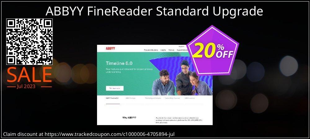 ABBYY FineReader Standard Upgrade coupon on Back to School deals super sale