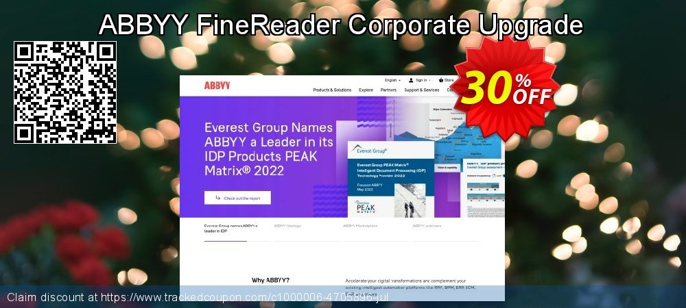 ABBYY FineReader Corporate Upgrade coupon on Back to School offer promotions