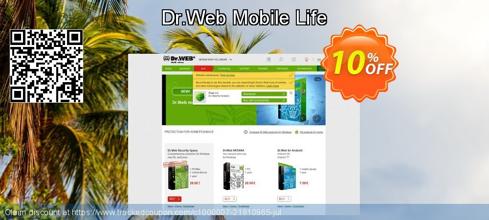 Dr.Web Mobile Life coupon on Summer sales