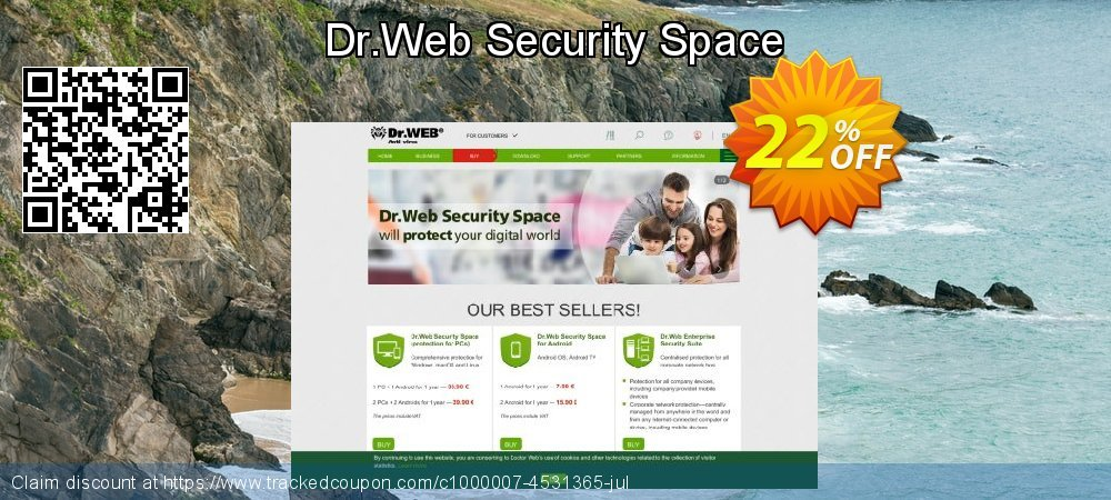 Dr.Web Security Space coupon on New Year's Day discounts