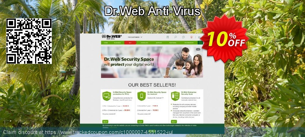 Dr.Web Anti-Virus coupon on Happy New Year offer