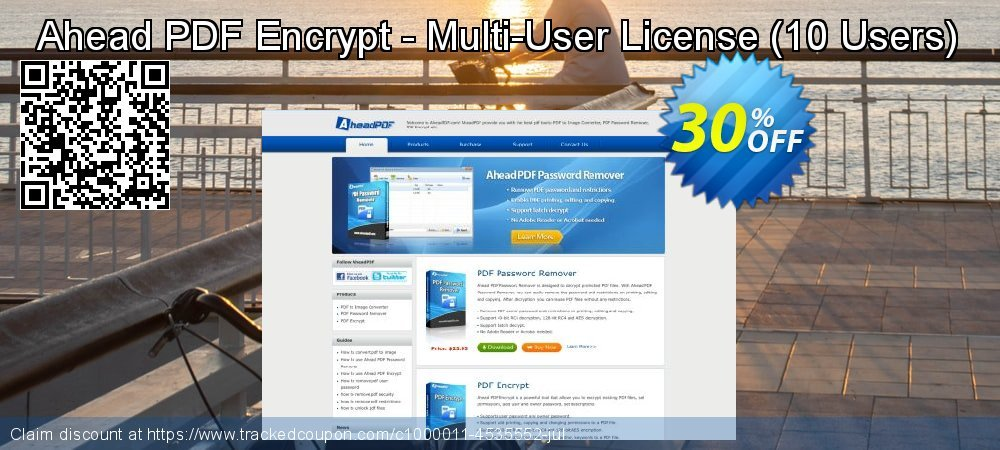 Get 30% OFF Ahead PDF Encrypt - Multi-User License (10 Users) offering sales