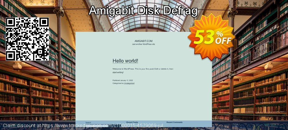 Amigabit Disk Defrag coupon on Summer discounts