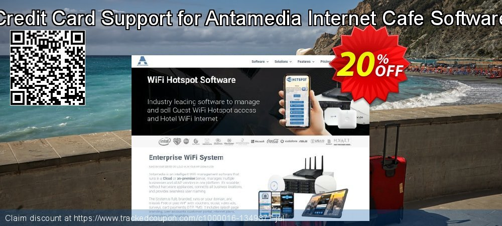 Credit Card Support for Antamedia Internet Cafe Software coupon on Easter Sunday offering discount