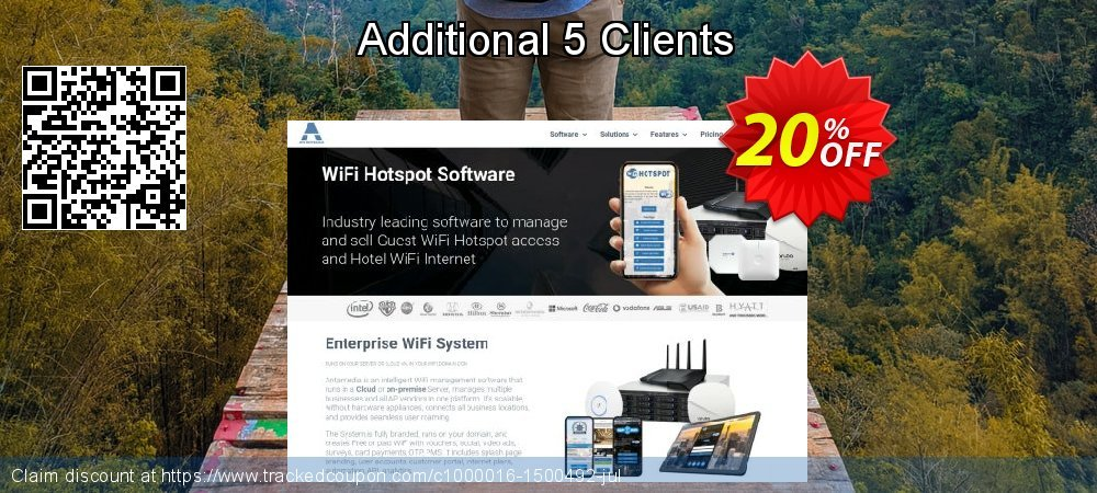 Additional 5 Clients coupon on April Fool's Day discount