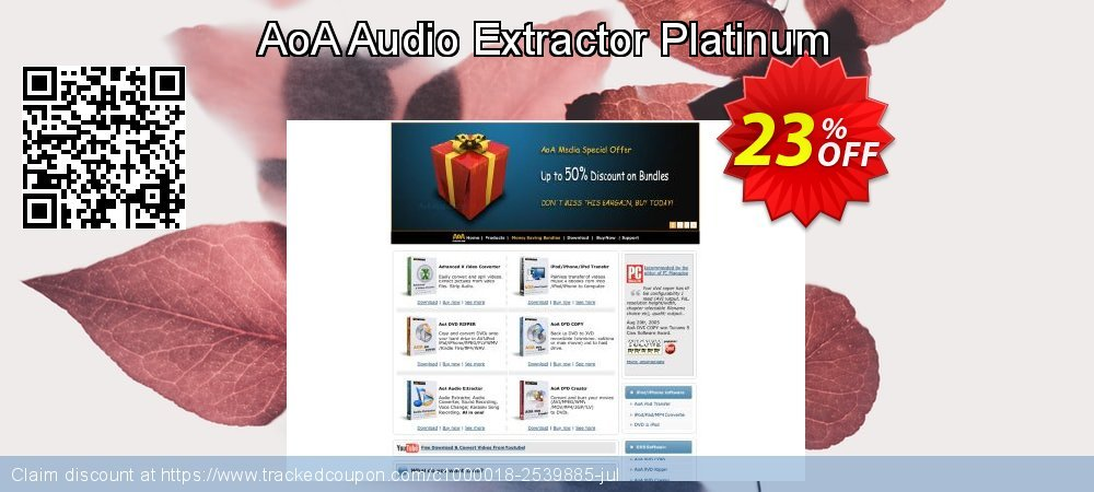 [20% OFF] AoA Audio Extractor Platinum Coupon on Back to School coupons  offer, August 2019