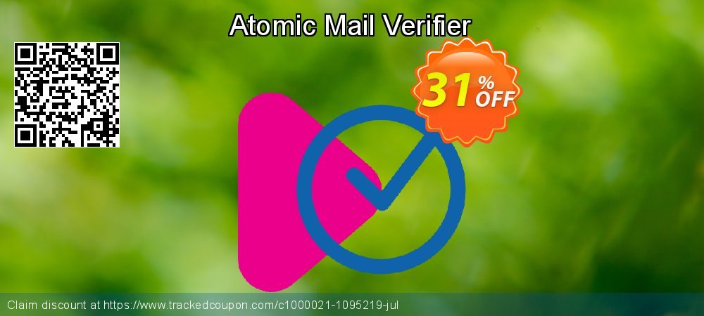 Atomic Mail Verifier coupon on Back to School promotion offer