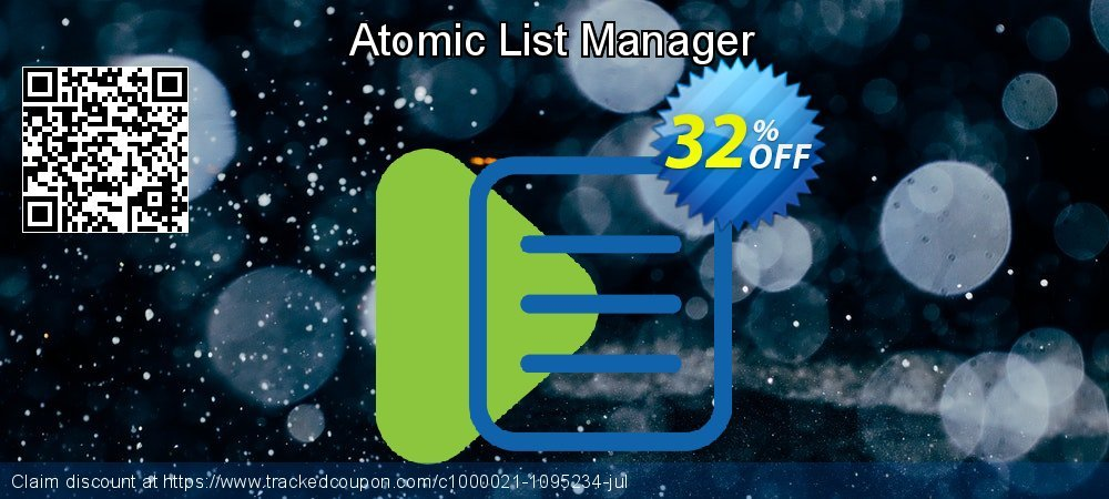 Atomic List Manager coupon on Teacher deals promotions