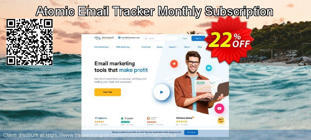 Get 20% OFF Atomic Email Tracker Monthly Subscription promo sales