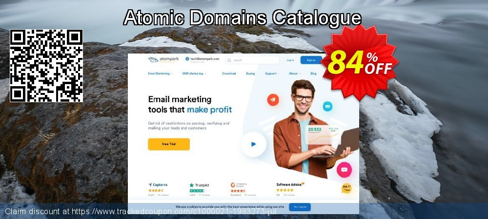 Atomic Domains Catalogue coupon on Back to School season promotions