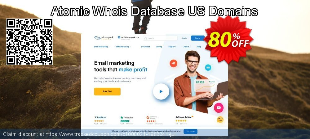 Atomic Whois Database US Domains coupon on Back to School season offering discount